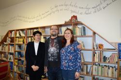 Paní Fojtíková, vynikající knihovnice ve školní knihovně ZŠ Hnojník